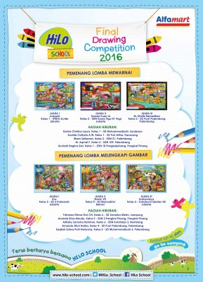 Pemenang HiLo School Drawing Competition 2016 bersama Alfamart