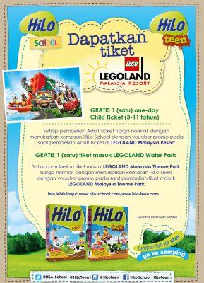 Beli HiLo School HiLo Teen, Dapat Tiket Legoland Malaysia