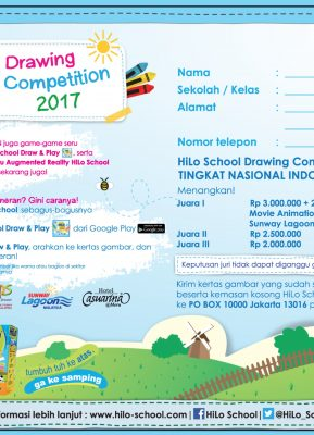 HiLo School Drawing Competition 2017 bersama Indomaret