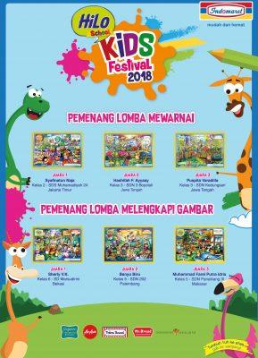 Pemenang HiLo Kids Festival 2018 Bersama Indomaret