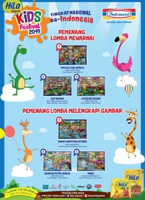 Pemenang HiLo Kids Festival 2019 tingkat Nasional